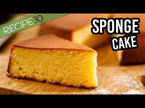 Classic Sponge Cake or Genoise the basic recipe with 4 ingredients