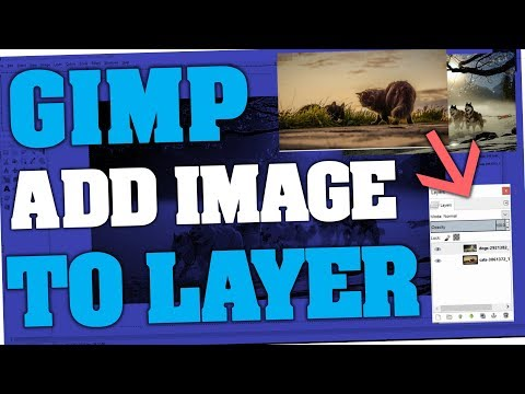 Gimp - How to import & add Image to Layer
