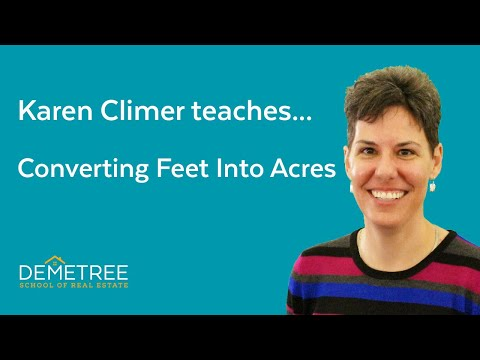 Florida Real Estate Exam Prep (SIMPLE!) – Converting Feet Into Acres