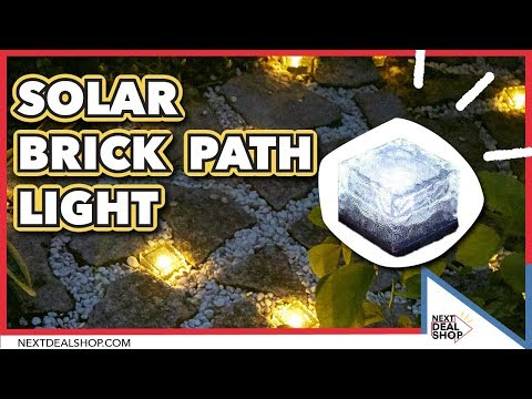 Solar Glass Brick Path Light - How To Get That Garden Glow - Next Deal Shop