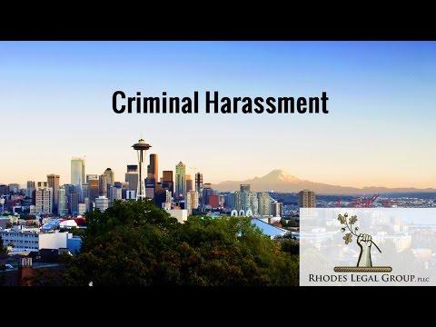 Criminal Harassment A Criminal Defense Lawyer's Prospective