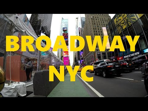 ⁴ᴷ Broadway from the Bronx to Staten Island Ferry Terminal, Lower Manhattan by Bicycle