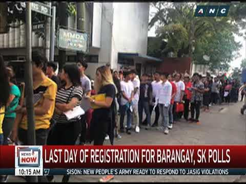 Long lines as Comelec holds last day of voters' registration