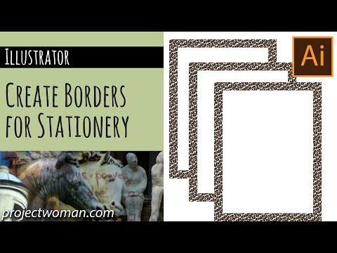 Illustrator - Create a Border for Stationery