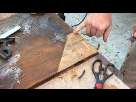 RESTORATION/ REPAIR  - MAHOGANY VENEERED  CARD TABLE( PART 2/ 2)