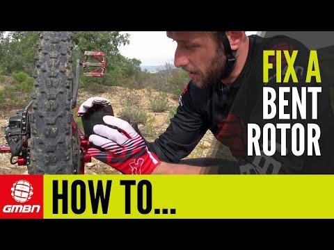 How To Fix A Bent Disc Brake Rotor   Trailside Mountain Bike Maintenance