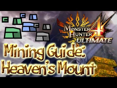 MH4U Mining Guide - Heaven's Mount: FAST & EASY ORE GRINDING!