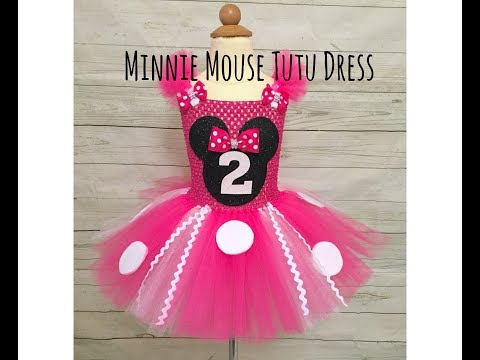 Minnie Mouse Birthday Tutu Dress | DIY tutorial | How to Make a Tutu