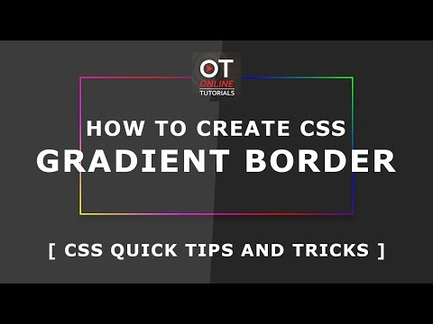 How To Create CSS Gradient Border - Css Quick Tips And Trick - Pure Css Tutorials