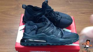 timeless design 5c10e d9e55 Nike Air Max 270 Bowfin Triple Black Unboxing and Review