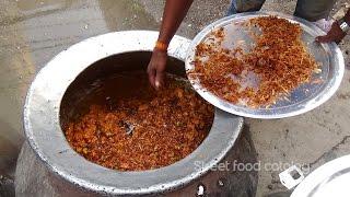 Muslim Chicken Dum Biryani Prepared for 500 People   King of Chicken Biriyani   Street Food Catalog