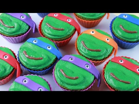 TEENAGE MUTANT NINJA TURTLES CUPCAKES - NERDY NUMMIES