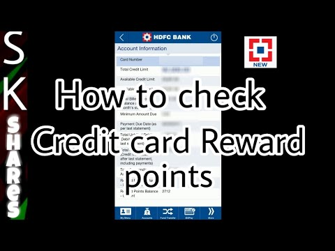 How to check HDFC credit card reward points in mobile app
