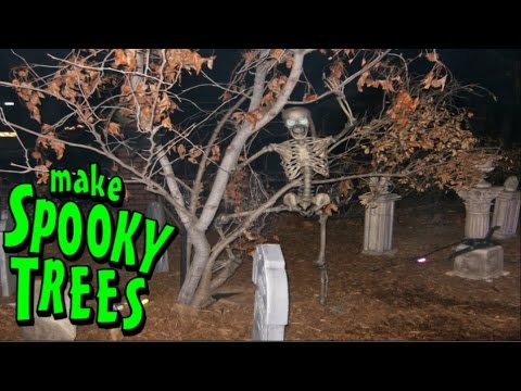 Making Spooky Halloween Tree Decorations - Construct A Fake Tree