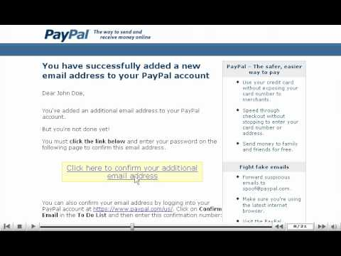 How to add an email address and set it as primary - PayPal tutorial
