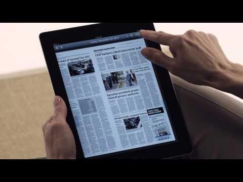 Demo of Today's Newspaper app