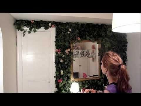 Indoor rose garden: My flower wall