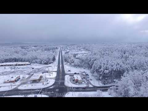 Aerial video of Marietta Saturday morning after snow storm Dec 9 2017