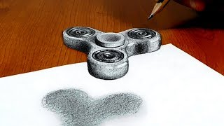 Download 3D Trick Art on Paper, Floating Fidget spinner, Try to do Video