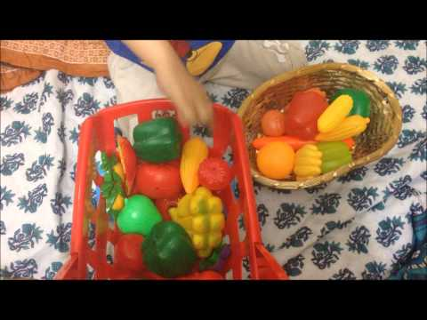 Fun way to teach toddlers about fruits and vegetables!