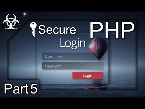 Secure Login Form Authentication System (Cookies, Sessions, Token, PDO) PHP & MySQL Tutorial Part 5