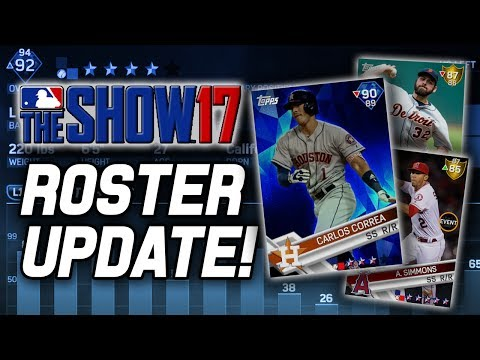 CORREA GOES DIAMOND! HUGE ROSTER UPDATE! | MLB The Show 17 Diamond Dynasty Roster Update