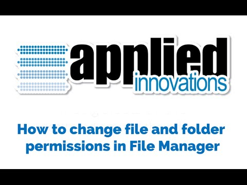 How to change file and folder permissions in File Manager