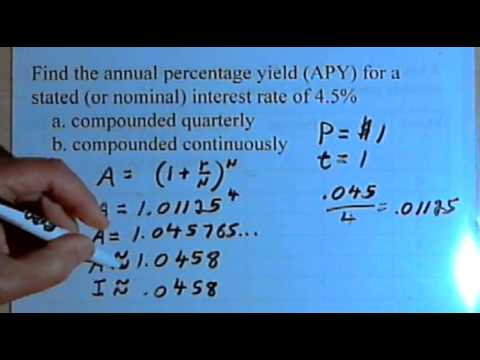 Calculating Annual Percentage Yield (APY) 141-32
