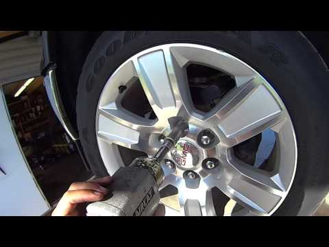 How to remove GM factory wheel nut locks