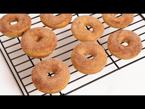 Baked Pumpkin Donut Recipe - Laura Vitale - Laura in the Kitchen Episode 826