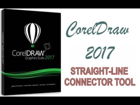 COREL DRAW 2017 USING STRAIGHT LINE CONNECTOR TOOL HINDI URDU PART 29