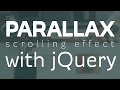 Parallax effect | 2 different ways to add it with jQuery