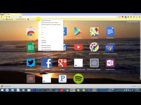 Chrome bookmarks bar using folders