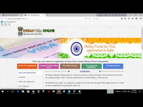 how to fill up Indian Visa application form online