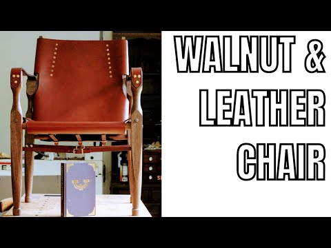 Walnut and Leather Camp Chair Build