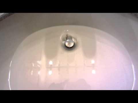 Bathroom Sink - Draining Fast After Pure Lye Treatment