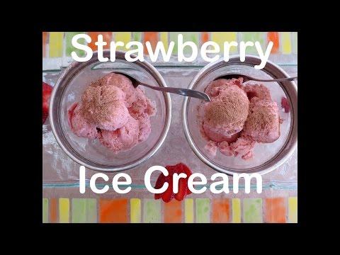 Strawberry Ice Cream Recipe - No Ice Cream Maker - The Frugal Chef