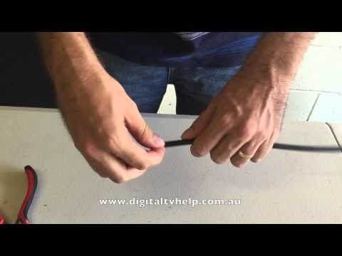How to Strip a Coax Cable Without Special Tools