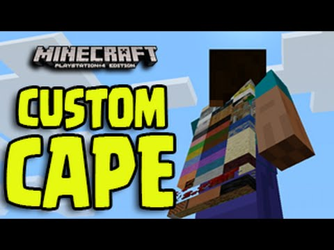 Minecraft PS3, PS4, Xbox, Wii U - CUSTOM CAPE TUTORIAL! Awesome Cape Glitch