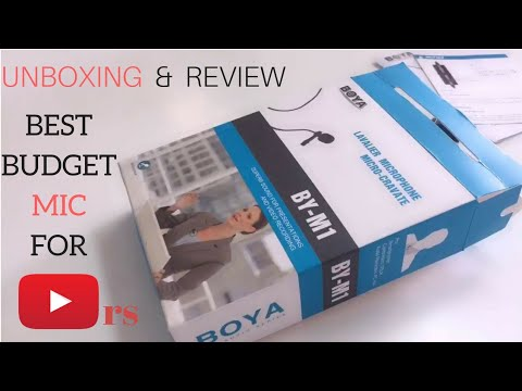 Best budget mic for youtubers   Boya By M1   Unboxing And Review in hindi with sound test -cheap mic