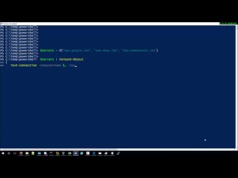 How to ping multiple servers with pwershell