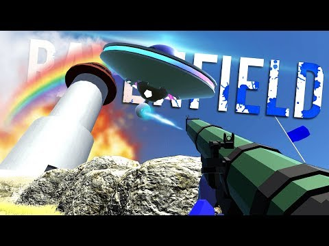 A UFO HAS INVADED THE RAVENFIELD! - April Fools Prank / Easter Egg - Ravenfield Gameplay