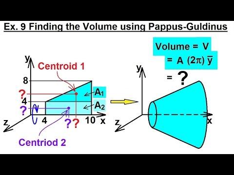 Mechanical Engineering: Centroids & Center of Gravity (34 of 35) Volume=? using Pappus-Guldinus