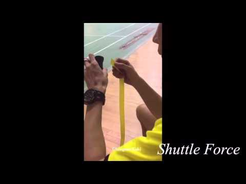 Shuttle Force - Lee Chong Wei Shows How to Wrap a Badminton Racket Grip