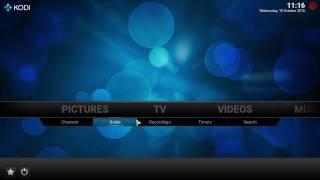 OpenELEC tvheadend oscam installation and configuration