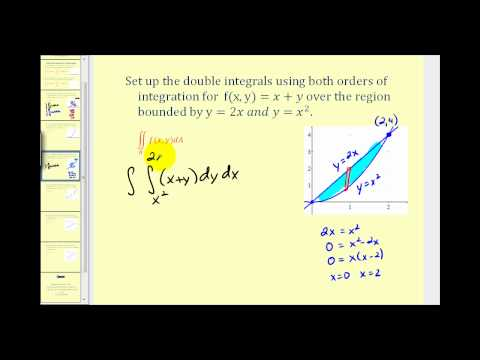 Setting up a Double Integral Using Both Orders of Integration