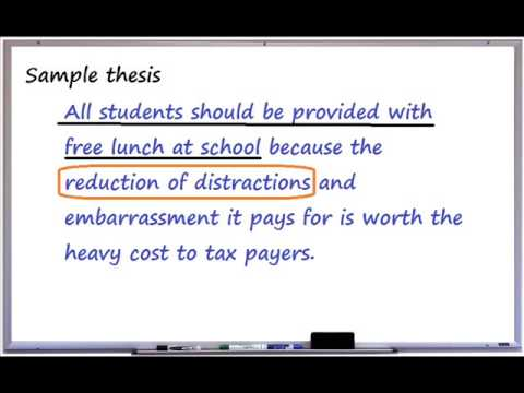 Topic Sentences & Elaboration