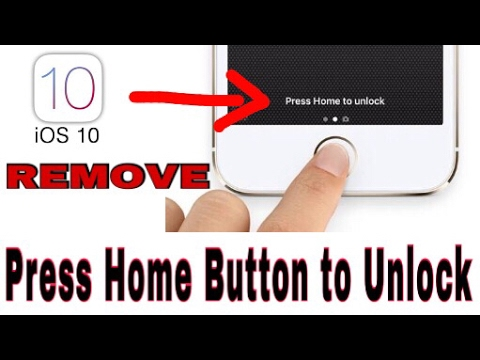How To Remove | Press Home Button To Unlock | iOS 10 | All iPhones | Hindi | Urdu |