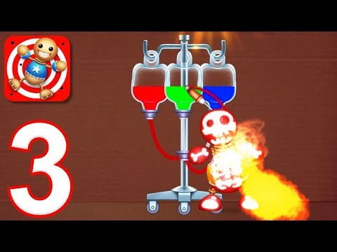 Kick the Buddy - Gameplay Walkthrough Part 3 - All Liquids and Sports Weapons (iOS)