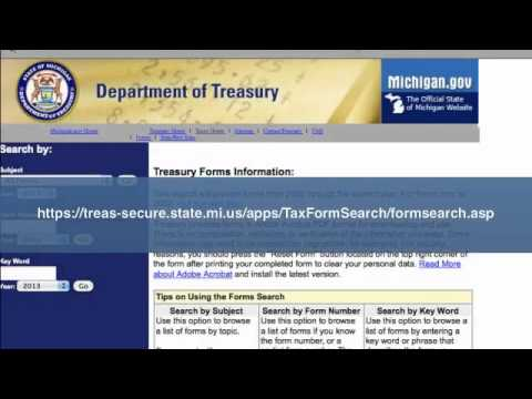 Michigan Tax Forms | 2013 2014 Tax Forms | State Federal Tax
